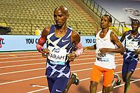 5th September 2020, Brussels, Netherlands; Baudouin Stadium Brussels, 1 Hour race for men, shows winner and new world record holder Mo Farah GBR