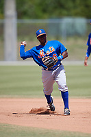 New York Mets Leon Byrd  (6) during practice before a minor league Spring Training game against the Miami Marlins on March 26, 2017 at the Roger Dean Stadium Complex in Jupiter, Florida.  (Mike Janes/Four Seam Images)