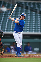 AZL Cubs 1 Ethan Hearn (9) at bat during an Arizona League game against the AZL D-backs on July 25, 2019 at Sloan Park in Mesa, Arizona. The AZL D-backs defeated the AZL Cubs 1 3-2. (Zachary Lucy/Four Seam Images)