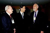 FILE - Clifford Lincoln, Andre Boisclair et le ministre de l'Environnement David Anderson   lors du congres et salon Americana 2001<br /> <br /> PHOTO : Agence Quebec Presse