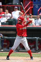 Harrisburg Senators outfielder Bryce Harper #34 during a game against the Erie SeaWolves at Jerry Uht Park on August 7, 2011 in Erie, Pennsylvania.  Harrisburg defeated Erie 6-1.  (Mike Janes/Four Seam Images)