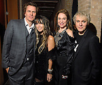 John and Gela Taylor, Becca Thrash and Nick Rhodes at the Duran Duran concert after party at Thrash's home Friday Dec. 05, 2008. (Dave Rossman for the Chronicle)