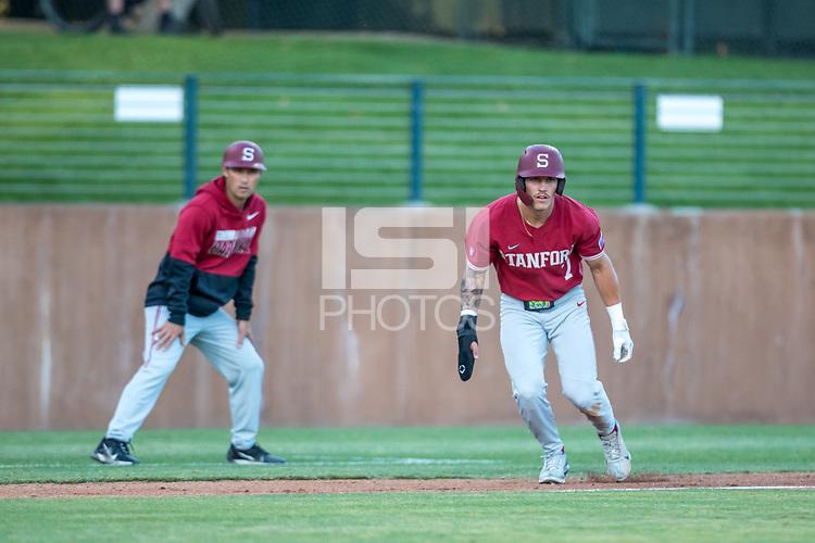 STANFORD, CA - JUNE 6: Brock Jones during a game between UC Irvine and Stanford Baseball at Sunken Diamond on June 6, 2021 in Stanford, California.