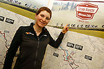 Elisa Longo Borghini (ITA) Wiggle Honda team previews the 2015 Strade Bianche Women Elite cycle race 103km over the white gravel roads from San Gimignano to Siena, Tuscany, Italy. 16th January 2015<br /> Photo: ANSA/www.newsfile.ie