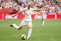 June 23, 2015: Vivianne MIEDEMA of Netherlands kicks the ball during a round of 16 match between Japan and Netherlands at the FIFA Women's World Cup Canada 2015 at BC Place Stadium on 23 June 2015 in Vancouver, Canada. Japan won 2-1. Sydney Low/AsteriskImages.com