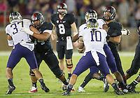 STANFORD, CA - October 5, 2013:  The Stanford Cardinal vs the Washington Huskies at Stanford Stadium in Stanford, CA. Final score Stanford Cardinal 31, Washington Huskies  28.