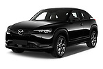 2021 Mazda MX-30 Skycruise 5 Door SUV Angular Front automotive stock photos of front three quarter view