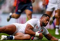 4th July 2021; Twickenham, London, England; International Rugby, Autumn Internationals, England versus United States of America; Joe Cokanasiga of England scores a try