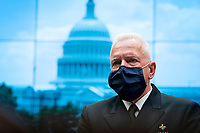 Brett Giroir, U.S. assistant secretary for health, is seen during a break from the House Energy and Commerce Committee hearing in Washington, D.C., U.S., on Tuesday, June 23, 2020. Trump administration health officials will tell lawmakers that their agencies are preparing for a flu season that will be complicated by the coronavirus pandemic.<br /> Credit: Sarah Silbiger / Pool via CNP/AdMedia