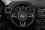 Car pictures of steering wheel view of a 2017 Jeep New Compass Trailhawk 5 Door SUV
