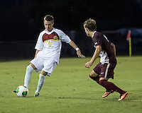 The Winthrop University Eagles played the College of Charleston Cougars at Eagles Field in Rock Hill, SC.  College of Charleston broke the 1-1 tie with a goal in the 88th minute to win 2-1.  Cody Winter (2), Adam Purvis (13)