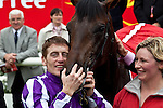 June 28, 2009: Fame And Glory, with Johnny Murtagh up, celebrate winning the Dubai Duty Free Irish Derby. The Curragh Racecourse. Co Kildare, Ireland.