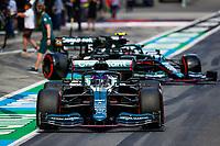 July 3rd 2021; F1 Grand Prix of Austria, qualifying sessions;  18 STROLL Lance (can), Aston Martin F1 AMR21, 05 VETTEL Sebastian (ger), Aston Martin F1 AMR21 during the  2021 Austrian Grand Prix, 9th round of the 2021 FIA Formula One World Championship