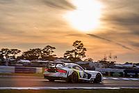 Sunset, #93 Dodge Viper,   Cameron Lawrence, Ben Keating, Marc Goossens, Al Carter   , 12 Hours of Sebring, Sebring International Raceway, Sebring, FL, March 2015.  (Photo by Brian Cleary/ www.bcpix.com )