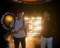 Rotterdam, The Netherlands. 16.02.2014. Michael Llodra(FRA)/Nicolas Mahut(FRA)ABN AMRO World tennis Tournament<br /> Photo:Tennisimages/Henk Koster