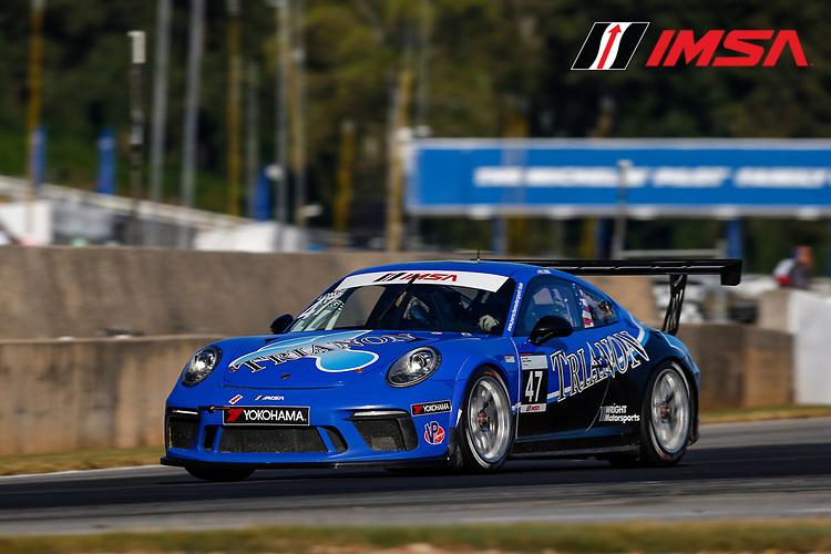 IMSA Porsche GT3 Cup Challenge USA<br /> Road Atlanta<br /> Road Atlanta, Braselton GA<br /> Thursday 5 October 2017<br /> 47, Andrew Longe, GT3P, USA, 2017 Porsche 991<br /> World Copyright: Jake Galstad<br /> LAT Images