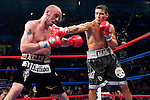 Atlantic City, NJ - 04.17.2010. Sergio Martinez lands against Kelly Pavlik during their WBC/WBO Middleweight championship fight at the Boardwalk Hall. Martinez won by unanimous decision, taking the belts away from Pavlik. Photo by Thierry Gourjon.