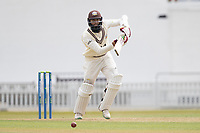 Hashim Amla drives through the covers during Surrey CCC vs Hampshire CCC, LV Insurance County Championship Group 2 Cricket at the Kia Oval on 30th April 2021