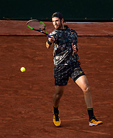 Paris, France, 3 june, 2019, Tennis, French Open,   Karen Khachanov (RUS) in his match against  Juan Martin Del Potro (ARG) <br /> Photo: Henk Koster/tennisimages.com
