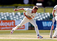 Luke Wood bowls for Lancashire during Kent CCC vs Lancashire CCC, LV Insurance County Championship Group 3 Cricket at The Spitfire Ground on 24th April 2021