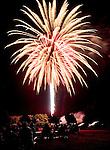 TORRINGTON CT. 11 July 2015-071115SV04-Fireworks go off at the middle school inTorrington Saturday.<br /> Steven Valenti Republican-American