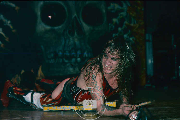 WASP -Chris Holmes performing live at the Tower Theater in Phila, Penn Jan 1985.