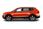 Car driver side profile view of a 2018 Volkswagen Tiguan SEL 4Motion 5 Door SUV
