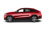 Car Driver side profile view of a 2018 Mercedes Benz GLE-Class 350 5 Door SUV Side View