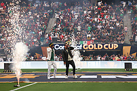 LAS VEGAS, NV - AUGUST 1: Pre-game performance before a game between Mexico and USMNT at Allegiant Stadium on August 1, 2021 in Las Vegas, Nevada.