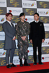 JYJ, Oct 29, 2015 : K-Pop boys group JYJ attend the 2015 Korean Popular Culture & Arts Awards held at National Theater in Seoul, South Korea on October 29, 2015. (Photo by Pasya/AFLO)