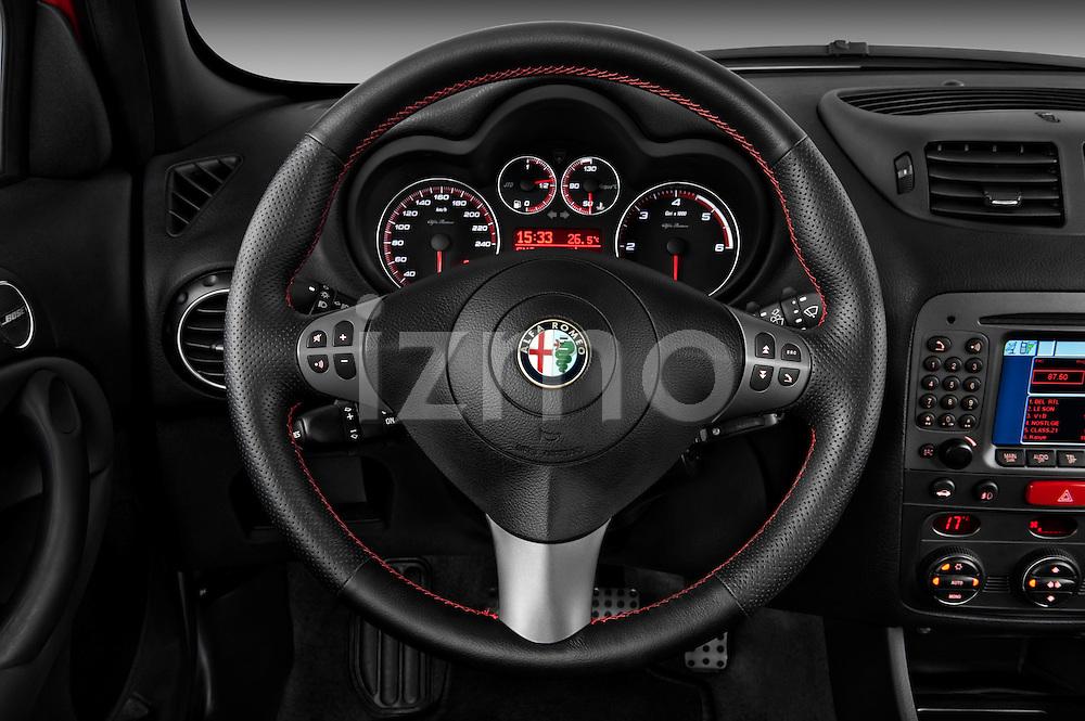 Steering wheel view of a 2000 - 2010 Alfa Romeo 147 5 Door Ducati Corse Hatchback.