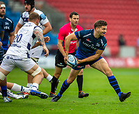 29th August 2020; AJ Bell Stadium, Salford, Lancashire, England; English Premiership Rugby, Sale Sharks versus Bristol Bears; Will Cliff of Sale Sharks clears a lose ball