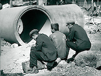 Arbeiter in Peking, China 1989