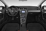 Stock photo of straight dashboard view of a 2015 Volkswagen Beetle 1.8T Conv. auto 2 Door Convertible