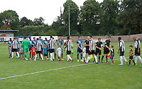Players shake hands before the Friendly match between Maidenhead United and Wycombe Wanderers at York Road, Maidenhead, England on 30 July 2016. Photo by Alan  Stanford PRiME Media Images.