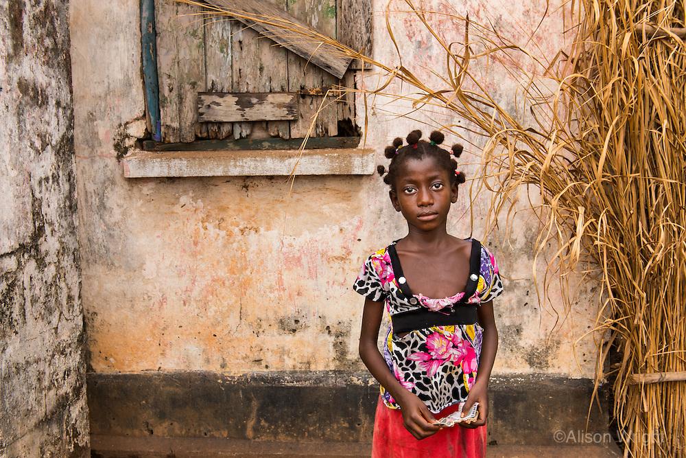 132<br /> Little girl in Sierra Leone, Africa.