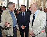 MARIO DONDERO, EZIO MAURO E VITTORIO GREGOTTI<br /> MOSTRA TULLIO PERICOLI     ARA PACIS ROMA 2010