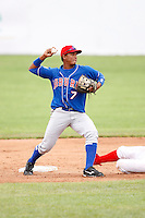 June 21, 2009:  Second Baseman Jimmy Gonzalez of the Auburn Doubledays during a game at Dwyer Stadium in Batavia, NY.  The Doubledays are the NY-Penn League Short-Season A affiliate of the Toronto Blue Jays.  Photo by:  Mike Janes/Four Seam Images