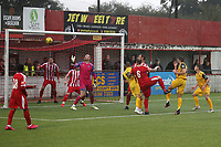 Ollie Muldoon of Hornchurch scores the second goal for his team during Bowers & Pitsea vs Hornchurch, Emirates FA Cup Football at The Len Salmon Stadium on 2nd October 2021