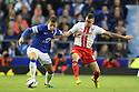 James Dunne of Stevenage grapples with Ross Barkley of Everton<br />  - Everton v Stevenage - Capital One Cup Second Round - Goodison Park, Liverpool - 28th August, 2013<br />  © Kevin Coleman 2013