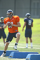 Virginia's Kyle McCartin during open spring practice for the Virginia Cavaliers football team August 7, 2009 at the University of Virginia in Charlottesville, VA. Photo/Andrew Shurtleff