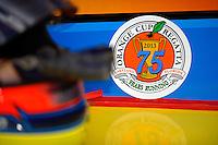 Sticker commemorating the 75th running of the Orange Cup Regatta.