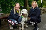 Taking Oscar for a walk in the Killarney National park on Sunday, l to r: Lara O'Brien and Rhonda Healy.