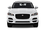 Car photography straight front view of a 2020 Jaguar F-Pace Prestige 5 Door SUV Front View