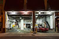 Urban parking garage.
