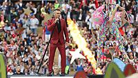 Robbie Williams bei der Eröffnungsfeier der Fußball-WM - 14.06.2018: Russland vs. Saudi Arabien, Eröffnungsspiel der WM2018, Luzhniki Stadium Moskau