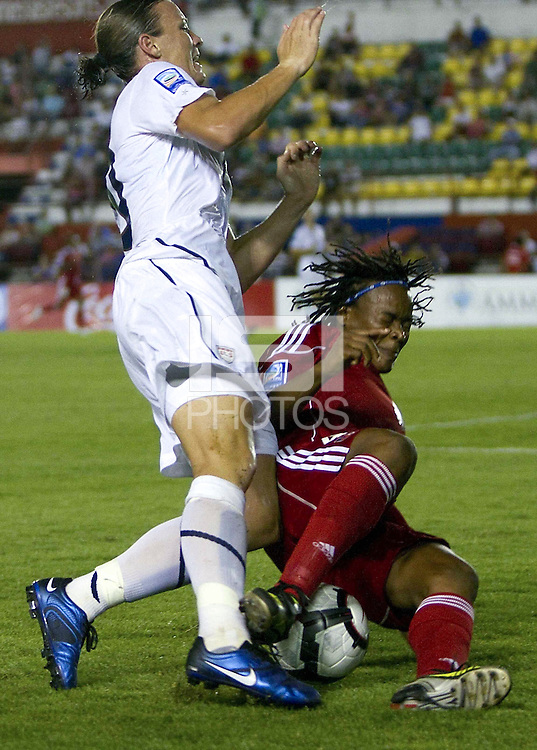 Abby Wambach of United States. The US Women's National Team defeated Haiti 5-0 during the CONCACAF Women's World Cup Qualifying tournament at Estadio Quintana Roo in Cancun, Mexico on October 28th, 2010.