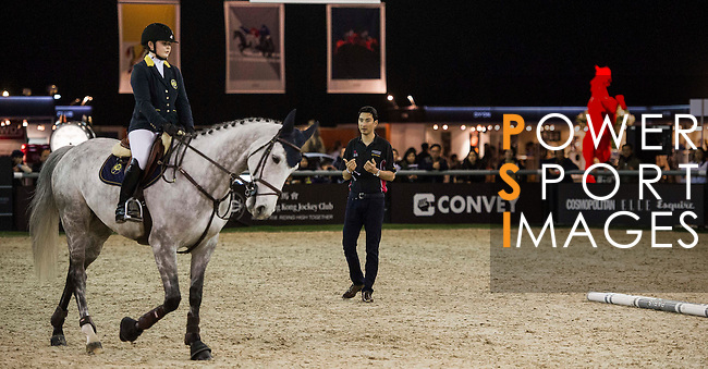 Master Class with Alex Hua Tian during the Longines Masters of Hong Kong on 20 February 2016 at the Asia World Expo in Hong Kong, China. Photo by Juan Manuel Serrano / Power Sport Images
