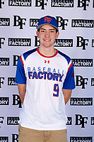 Noah Roberts (9) of Jacob Hespeler Secondary School in Cambridge, Ontario, Canada during the Baseball Factory All-America Pre-Season Tournament, powered by Under Armour, on January 12, 2018 at Sloan Park Complex in Mesa, Arizona.  (Mike Janes/Four Seam Images)