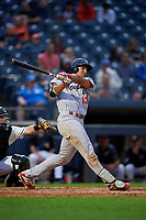 Reading Fightin Phils Darick Hall (13) at bat during an Eastern League game against the Akron RubberDucks on June 4, 2019 at Canal Park in Akron, Ohio.  Akron defeated Reading 8-5.  (Mike Janes/Four Seam Images)